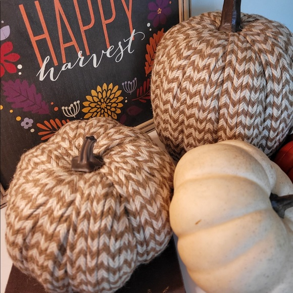 Pumpkin, Small, Textured with Braided Pattern